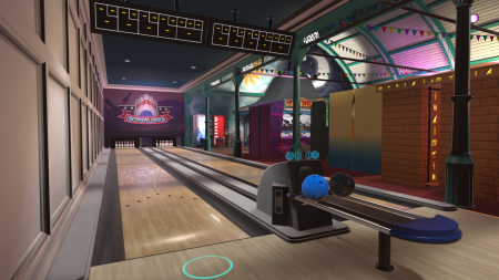 VR bowling alley