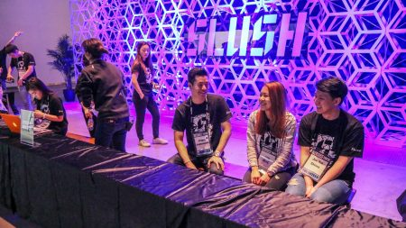 Volunteers working at Slush Tokyo