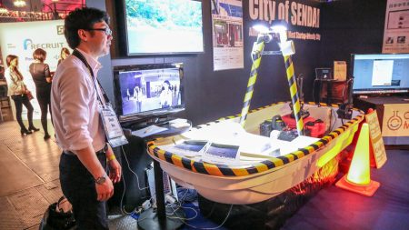 Boat drone on display at Slush Tokyo 2018