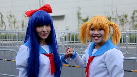 Pop Team Epic cosplayers at Anime Japan 2018