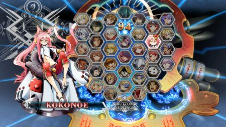 Blazblue Centralfiction character select