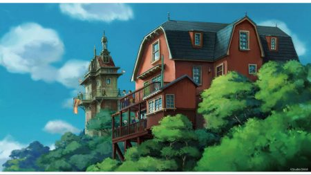 Concept art for Studio Ghibli theme park
