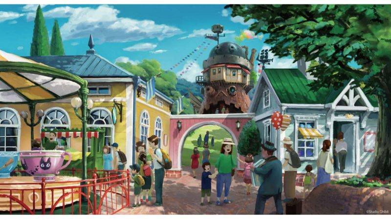 Studio Ghibli theme park entrance art