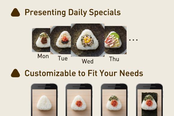 Onigiri making app for smartphone