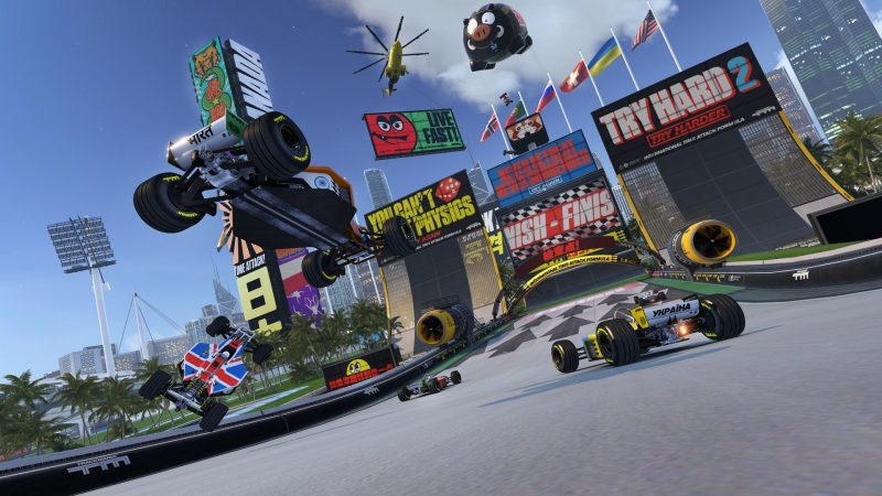 trackmania turbo arcade style racing game PS4