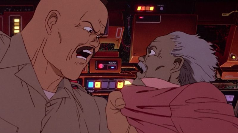 The major and the scientist in Akira